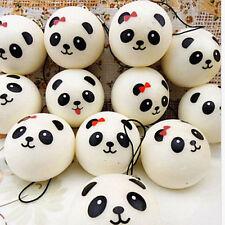 1X Randomly Panda Squishies Kawaii Buns Bread Smell Charms Cellphone Straps HC