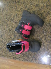 Wonder Nation girls 9 toddler Winter snow Boots Pink Black NWT faux fur lined