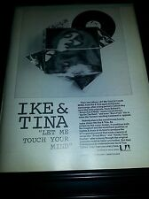 Ike and Tina Turner Let Me Touch Your Mind Rare Original Promo Poster Ad Framed!