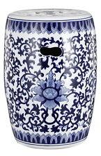 Lotus Flower Design Garden Stool Seat Ceramic Stylish Stunning Style Glossy New