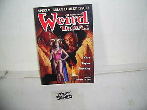"""BRIAN LUMLEY.SIGNED""""BY 2.WEIRD TALES.SPECIAL.NEW UNREAD 1989.."""