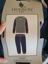 Hudson Bay Mens Long Sleeve Super Soft Fleece Pyjamas PJs Set