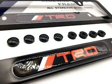 Deluxe Black License Plate Frame TRD Celica Supra FRS 86 IS ES GS Tacoma RX Echo