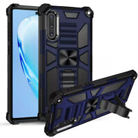 For Samsung Galaxy A10/A20/A30 Armor Dual Layer Case Kickstand Magnetic Cover