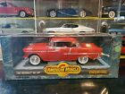 ERTL American Muscle 1955 Chevy Bel Air Coupe 1:18 Scale Diecast Model Car Red