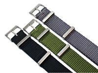 Nylon Uhrenarmband Edelstahl Dornschließe 20mm Textil Armband Militär Uhr Band