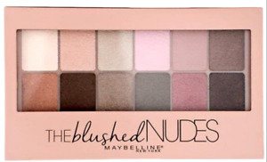 MAYBELLINE The Blushed Nudes 12 Eyeshadow Palette - Nude Neutral Matte Satin NEW
