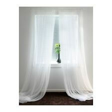 """IKEA LILL sheer curtains  8  panels 98 """" x 110 """" white NEW FREE SHIPPING !!"""