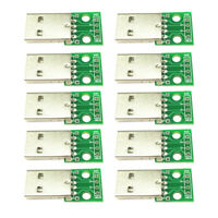 10pcs USB 2.0 Male To DIP 2.54mm Pin 4P Adapter Module for Microphone