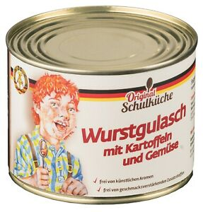 NEU! Original Schulküche - Wurstgulasch mit Kartoffeln 500 g (5,38 €/kg)