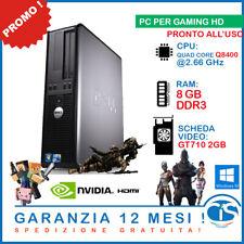 PC GAMING COMPUTER FISSO DESKTOP COMPUTER DELL WINDOWS 10 ECONOMICO GT 710 2GB