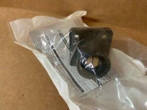 Leviton BLACK 16 Series Cam Male Receptacle Panel Mount 400 Amp, Threaded Stud