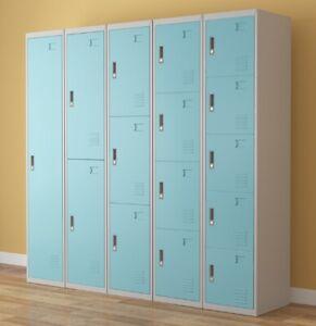 Work Lockers 1,2,3,4,5,6 Door Metal Lockable Unit Staff School Gym Changing Box