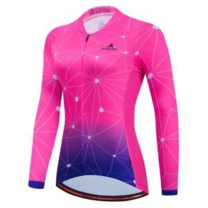 Women's Cycling Jersey Clothing Bicycle Sportswear Long Sleeve Bike Shirt J79