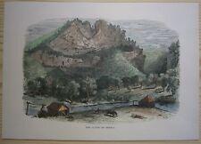 1872 Bryant print SENECA ROCKS, PENDLETON COUNTY, WEST VIRGINIA (#108)