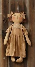 "Primitive Country Rustic 21"" Goldie Locks Rag Doll With Lace Trim"