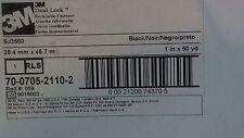"""New listing 3M Dual Lock Reclosable Fastener Sj3550 Black, 1"""" x 50 yd, 0.22"""" (5.6 mm)"""