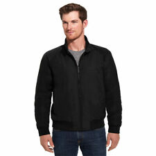 Weatherproof Men's Oxford Harrington Bomber Jacket in Black Large