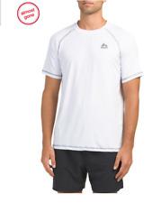 Rbx Rash Guard Mens Top White Athletics Sports Soccer Tennis T Shirt