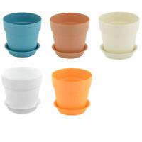 Home Garden Plastic Gardening Round Design Plant Flower Holder Planter Pot Tray