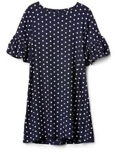 New Gap Kids Girl Polka Dot Print Ruffle-Sleeve Dress S 6-7