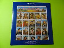 Stamps SC 2870 Legends of the West * ERROR SHEET * Mint * Recalled w/Envelope