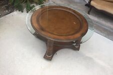 West Indies Style Solid Wood Accent Round Coffee Table Local Pickup Only!