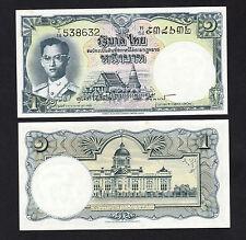 Thailand 1 Baht 1955 Sign 40 King Rama IX banknotes - UNC Toning