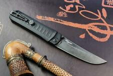 Couteau Kizlyar Supreme Whisper D2 Tanto Manche Black G-10 Made In Russia KK0119