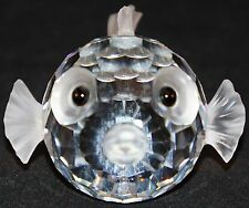 Swarovski Crystal Vintage BLOWFISH / PUFFER FISH Figurine Very Cute Signed