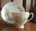 Colclough Vintage Bone China Yellow Carnations Tea Cup and Saucer Set England