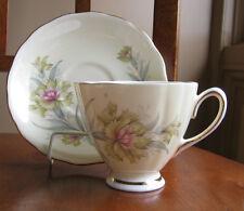 Colclough Vintage  Bone China Yellow Carnations Tea Cup and Saucer Set England