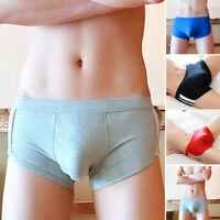 4 Colors Men's Sexy Cotton Soft Breathable Comfy Boxers Underwear Briefs Shorts