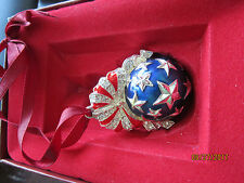 STAR SPANGLED BALL LENOX Ornament heavy Metal Silverplated & Rhinestones