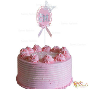 IT'S A GIRL CAKE TOPPERS BABY SHOWER  NEW BABY CAKE TOPPERS
