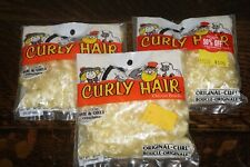Lot of 3 Curly Hair Original-Curl Sunshine Yellow .90oz One & Only Doll Blonde