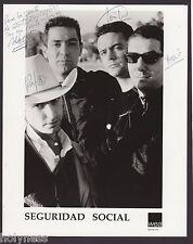 VINTAGE PRESS PHOTO / SEGURIDAD SOCIAL / SIGNED / 1990's