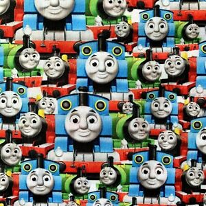 FQ THOMAS THE TANK ENGINE TRAIN CHILDREN POLYCOTTON FABRIC CHARACTER