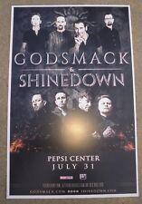GODSMACK & SHINEDOWN 2018 Pepsi Center  Denver Promo 11x17 Concert Poster