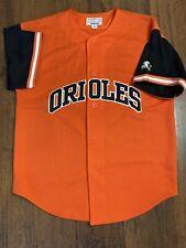 Vintage Starter Baltimore Orioles Cal Ripken Jr Button Orange Sewn Jersey M MLB