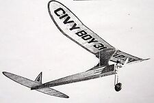 Vintage CIVY BOY 24 & 31 TWO 1/2A OT FF PLANS With Parts Patterns Model Airplane