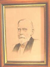 SMALL PORTRAIT REVEREND JOSEPH  LEATHERBARROW CHALK EDGAR WIARD 1932