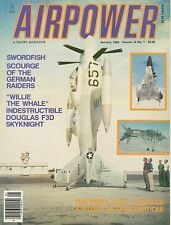 AIRPOWER V16 N1 DOUGLAS F3D SKYKNIGHT USMC USN / WW2 FAIREY SWORDFISH STRINGBAG