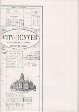 "~~~MAPS~1895 DENVER / LEADVILLE 1913~Historic Re-print~2-sided~18""x25""~Mines~RRs"