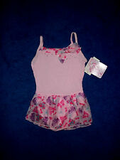 Girls Pink Purple Moret Dance Skating Gym Leotard Outfit Size 6 - 7 Small