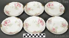 6 Charles Ahrenfeldt Haviland Limoges CA France Pink Rose Berry Fruit Bowls FF