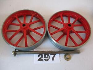 USED MAMOD SPARES TE1A LIVE STEAM TRACTION ENGINE REAR WHEELS AXLE  & CAPS W297