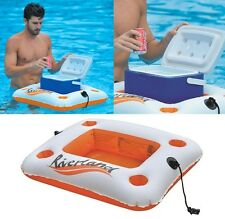 Inflatable Floating Swimming Pool Bar Cooler Beverage Holder Outdoor Summer Fun