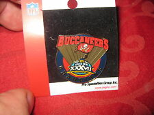 SUPER BOWL XXXVII 37 TAMPA BAY BUCCANEERS CHAMPIONS Banner PIN Mint on Card LOOK