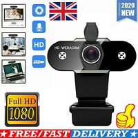 Full HD 1080P Webcam Video Camera W/Microphone USB For PC Desktop Laptop Mic